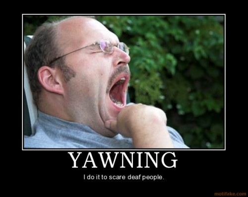 Yawning person