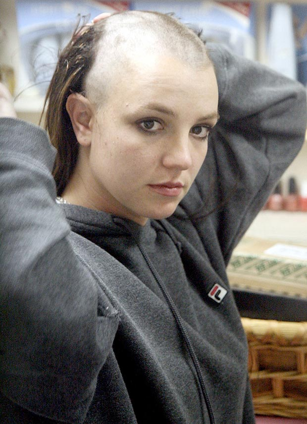 Britney shaving her head